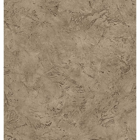 Paleo Brown Faux Fossil Texture Wallpaper