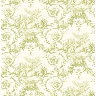 Kennedy Green Modern Toile Wallpaper