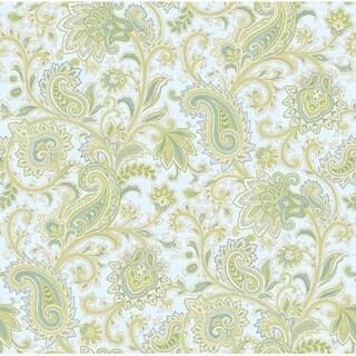 Sadie Blue Paisley Swirl Wallpaper