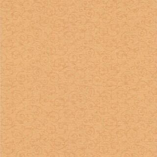 Ancha Peach Scroll Texture Wallpaper