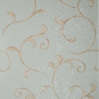 Marianne Light Green Scroll Wallpaper