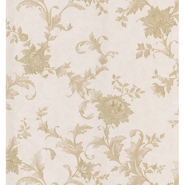Shop Emeline Taupe Jacobean Scroll Wallpaper Free