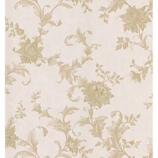 Emeline Taupe Jacobean Scroll Wallpaper