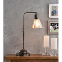 Design Craft Levi 22-inch Desk Lamp - Warm Bronze