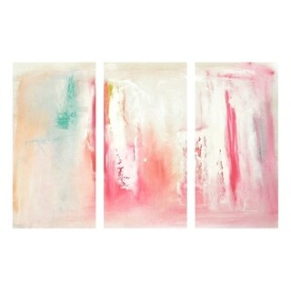 Oliver Gal 'Dreaming Triptych' Abstract Wall Art Canvas Print - Red, White - 17 x 36 x 3 Panels