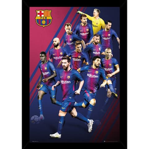 Barcelona Players 17/18 Poster with Choice of Frame (24x36)