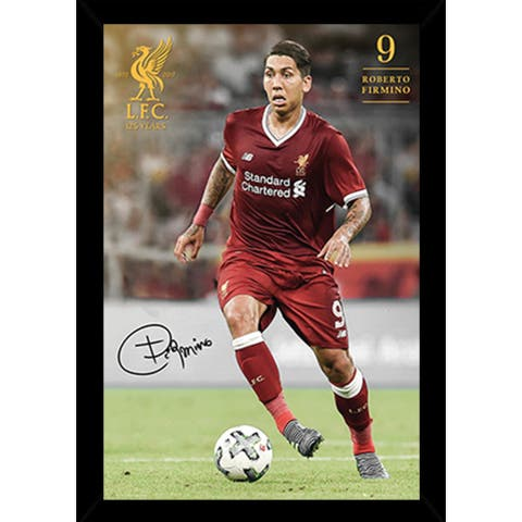 Liverpool Firmino 17/18 Poster with Choice of Frame (24x36)