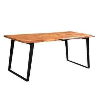 Handmade Solid Wood Live Edge Dining Table (India)