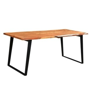 "Timbergirl solid wood live edge dining table - 60""-80"""