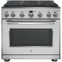 """GE Cafe Series 36"""" Dual Fuel Professional Range with 6 Burners (Natural Gas)"""