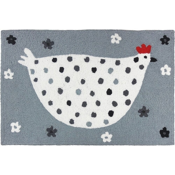 Shop Jellybean Rug Cool Gray Chick Free Shipping On Orders Over