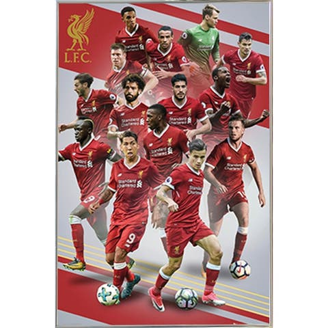 Liverpool Players 17/18 Poster with Choice of Frame (24x36)
