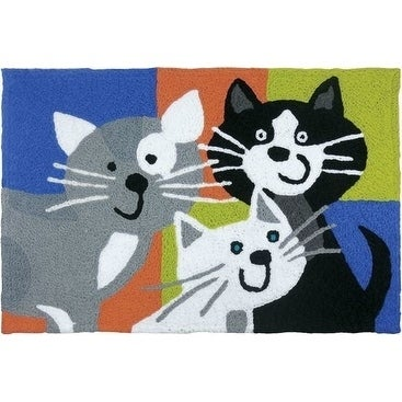 Shop Jellybean Rug Kitty Klatch Multi Free Shipping On Orders