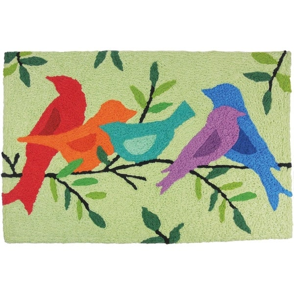 Shop Jellybean Rug Morning Song Birds Multi Free Shipping On