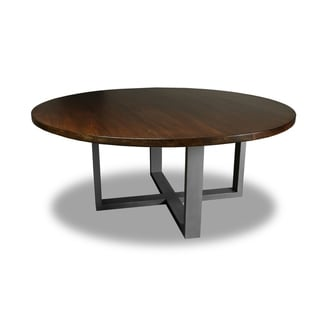 Shop Tahoe Wrought Iron Reclaimed Wood Round Dining