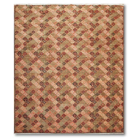 Global Michaelian & Kohlberg Oriental Hand Knotted Area Rug - Olive/Brown - 8' x 10' - 8' x 10'
