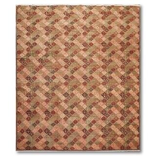 Global Michaelian & Kohlberg Oriental Hand Knotted Area Rug - Olive/Brown - 8' x 10'