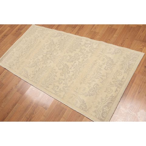 Transitional Accent Oriental Hand Knotted Area Rug - Beige/Tan - 3' x 6' - 3' x 6'