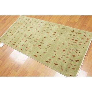 Pure Wool Michaelian & Kohlberg Oriental Hand Knotted Area Rug (3'x6')