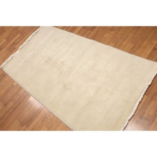 "Casual Contemporary Oriental Hand Knotted Area Rug (3'x4'6"")"