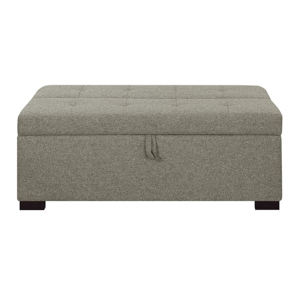 Emerald Home Cache I Gray Sleeper Ottoman