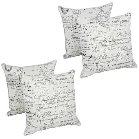 Blazing Needles 17-inch Montage Throw Pillow (Set of 4)