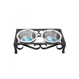 Black Raised Wrought Iron Pet Dishes