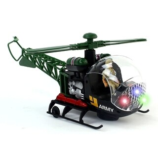 Warhawk Bump & Go Battery Operated Toy Helicopter
