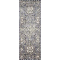 Traditional Blue Moroccan Mosaic Runner Rug - 2'8 x 10'