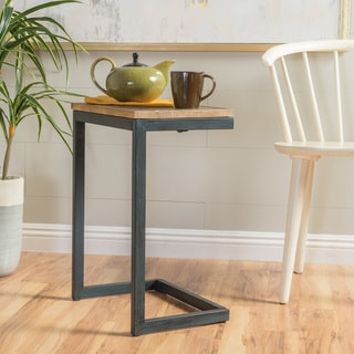 Darlah Medium Firwood Antique Accent Table by Christopher Knight Home