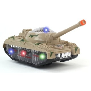 Battery Operated Bump & Go Power Force Toy Tank