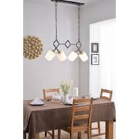 "Design Craft Cosgrove 15"" 4 Light Island - Gold and Matte Black"