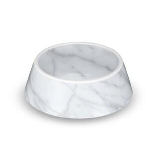 Carrara Marble Medium Pet Bowl