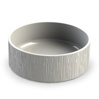 Wood Grain Ceramic Stoneware X-Large Pet Bowl