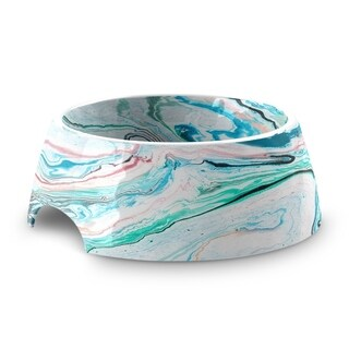Marble Swirl Medium Pet Bowl