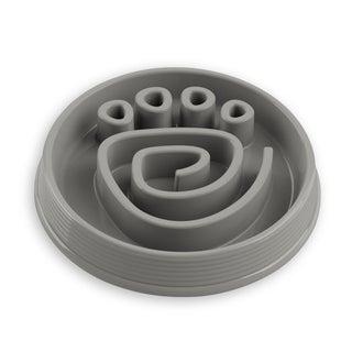 Slow Chow Paw Maze Medium Feeder Grey
