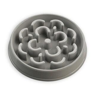 Slow Chow Medallion Medium Feeder Grey