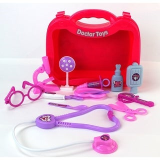 Super Imagination Doctor Pink Toy Medical Doctor Playset
