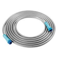 Sun Joe AJSGH25 Heavy-Duty Spiral Constructed Stainless Steel Garden Hose | 25-Feet