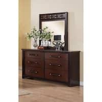 LYKE Home Contemporary Style Dresser Mirror Set