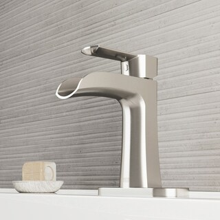 VIGO Paloma Single Hole Bathroom Faucet With Deck Plate