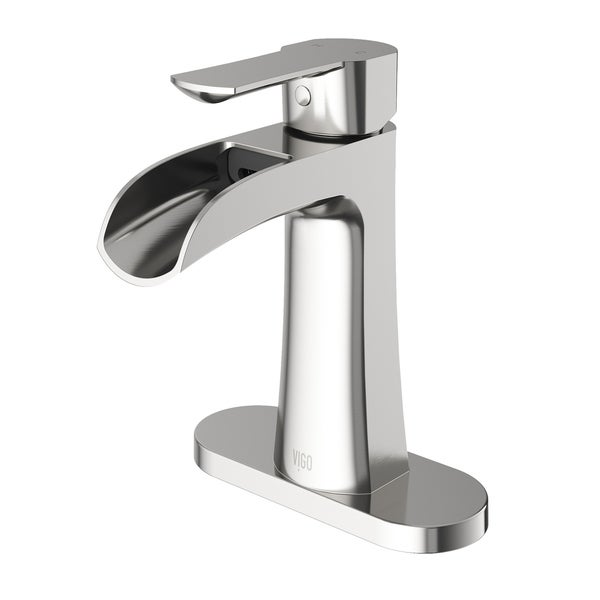 VIGO Paloma Single Hole Bathroom Faucet With Deck Plate - Free ...