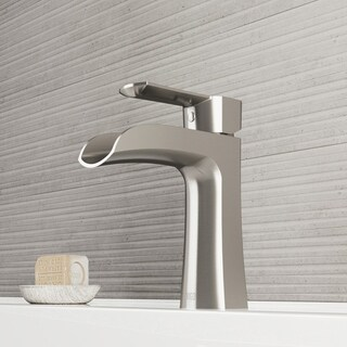 VIGO Paloma Brushed Nickel Single Hole Bathroom Faucet