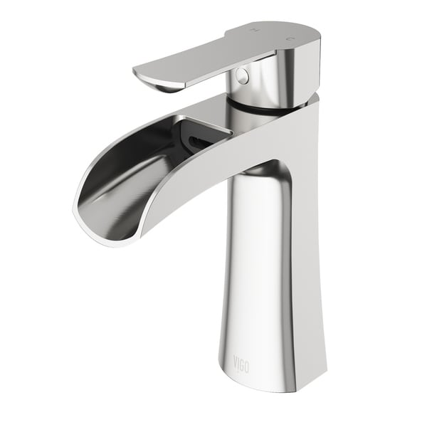 Shop VIGO Paloma Brushed Nickel Single Hole Bathroom Faucet - On ...