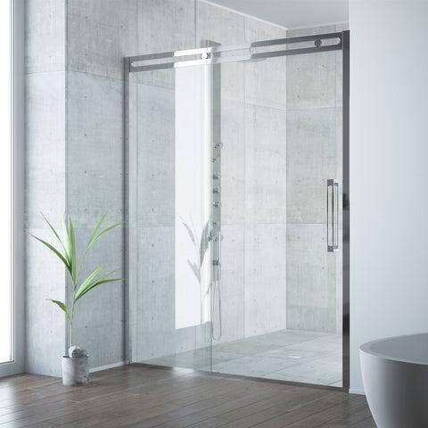 VIGO Erie Chrome Adjustable Framed Sliding Shower Door