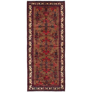eCarpetGallery  Hand-knotted Koliai Light Brown Wool Rug (4'0 x 9'7)
