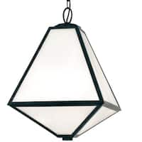Crystorama Brian Patrick Flynn-Glacier Collection 3-light Black Charcoal Outdoor Chandelier