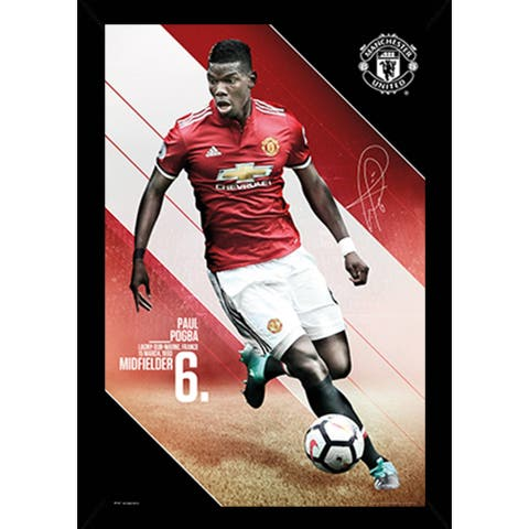 Man UTD Pogba 17/18 Poster with Choice of Frame (24x36)