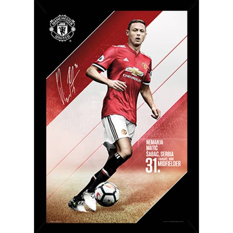 Man UTD Matic 17/18 Poster with Choice of Frame (24x36)