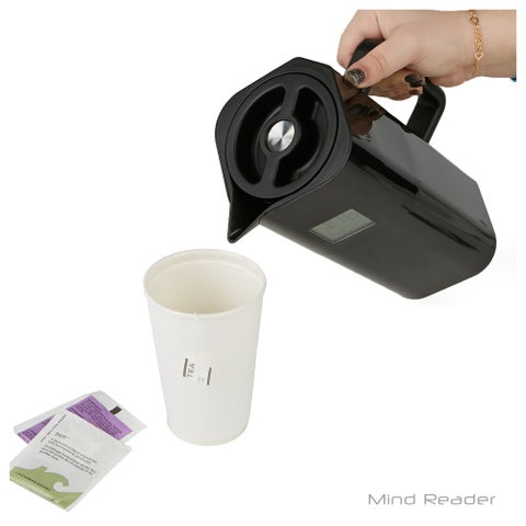 Mind Reader Double Wall Thermal Coffee Carafe with Temperature Display, Black